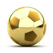 Golden soccer ball — Stock Photo