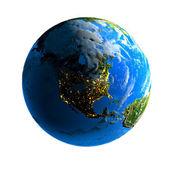 Día y noche en el globo — Foto de Stock