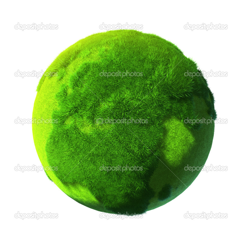 Green Earth, covered with grass — Stock Photo © Antartis ...