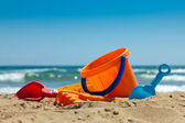 Plastic toys for beach — Stockfoto