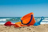 Plastic toys for beach — Stock Photo