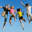 Leap ahead against the sky — Stock Photo #3495253