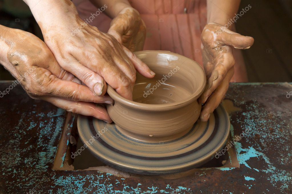 Поделки из глины на гончарном круге