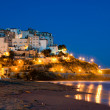 Evening view of the Italian city of Sperlonga — Stock Photo #3757759