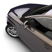 Auto s tmavě dvoubarevný lak v ateliéru — Stock fotografie