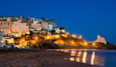 Evening view of the Italian city of Sperlonga — Stock Photo
