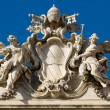 trevi fountain roof sculpture — Stock Photo