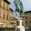 Statue of Cosimo I de' Medici by Giambologna - Stock Photo