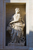 Fragment of a fountain of Trevi — Stock Photo