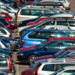 Lots of cars parking in the city — Stock Photo #3770233