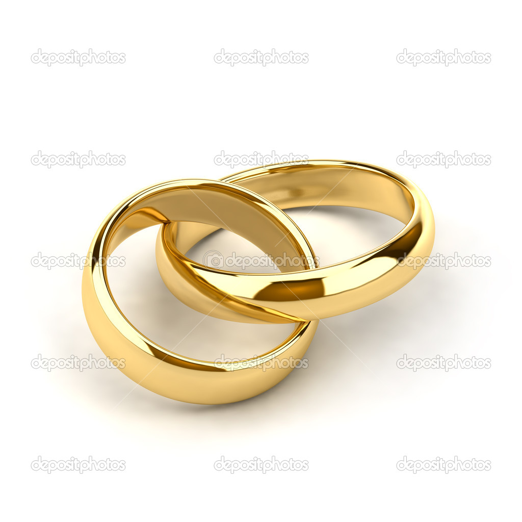 Two wedding rings, like links in the chain are interconnected — Stock Photo #3864074