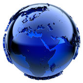 Blue glass globe — Stockfoto