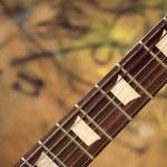 Guitar fingerboard — Stock Photo