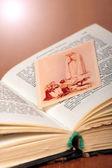 Opened prayer-book — Stock Photo