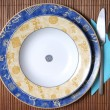Chinese style dishes on white — Stock Photo