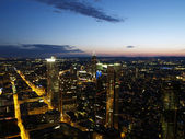 Nightscene of Frankfurt city — Stock Photo