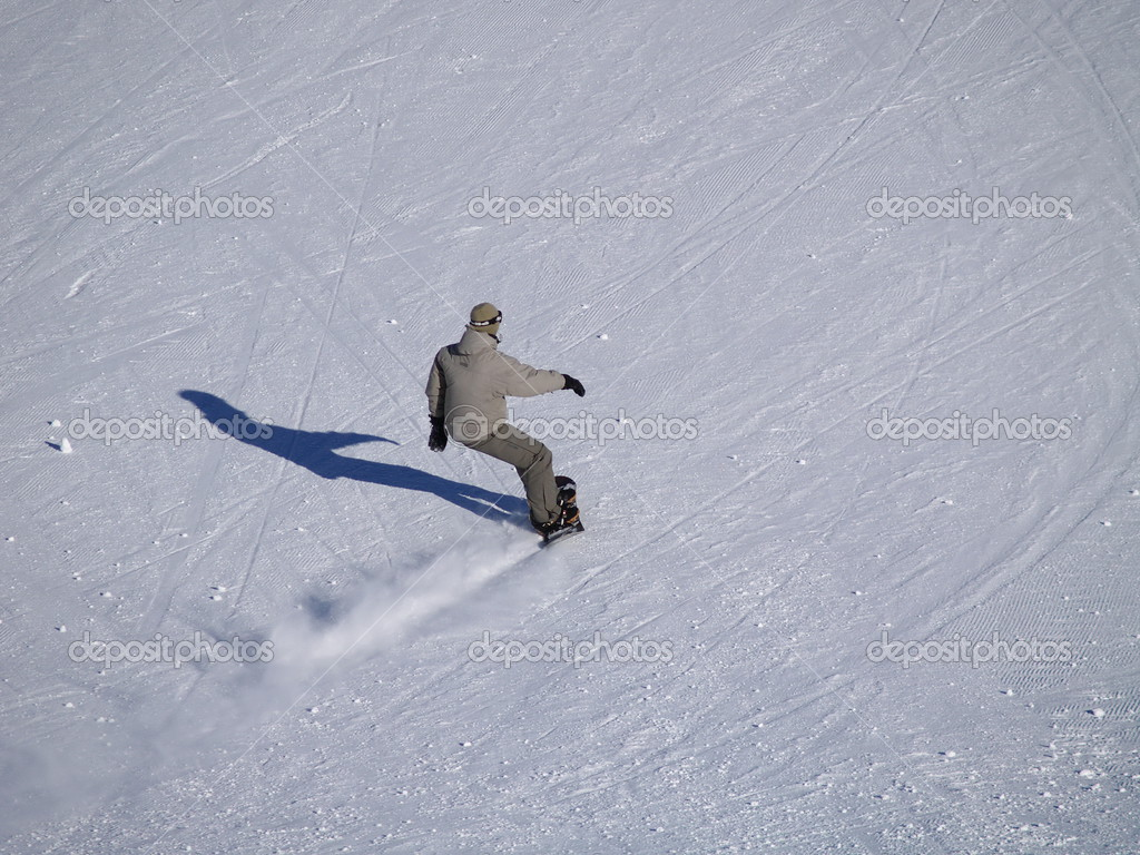 Snowboarder on the slope — Stock Photo #3443631