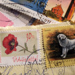 Postage stamps from Hungary — Stock Photo
