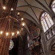 Candleholder of Strasbourg cathedral — Stock Photo