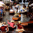Floating markets of Damnoen Saduak - Stock Photo