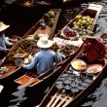 Floating markets of Damnoen Saduak — Stock Photo #3571689