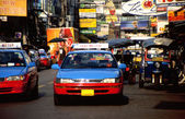 Taxi cab in Bangkok — Stock Photo