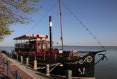 Barco de passeio no lago balaton — Foto Stock