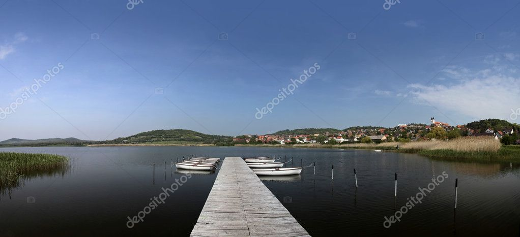 Landscape near Lake Balaton at Tihany, Hungary — Stock Photo #3743152