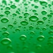 Green waterdrops — Stock Photo #3341534