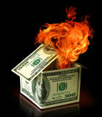 Financial crisis concept — Stock Photo