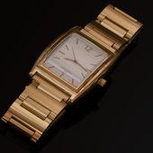 Relógio dourado — Foto Stock