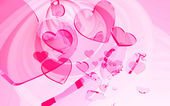 Pink hearts — Stock Photo