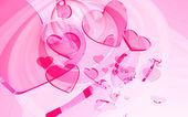 Pink hearts — Stock Photo