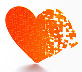 Puzzle heart — Stock Photo