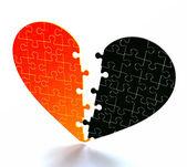 Broken heart — Stock Photo