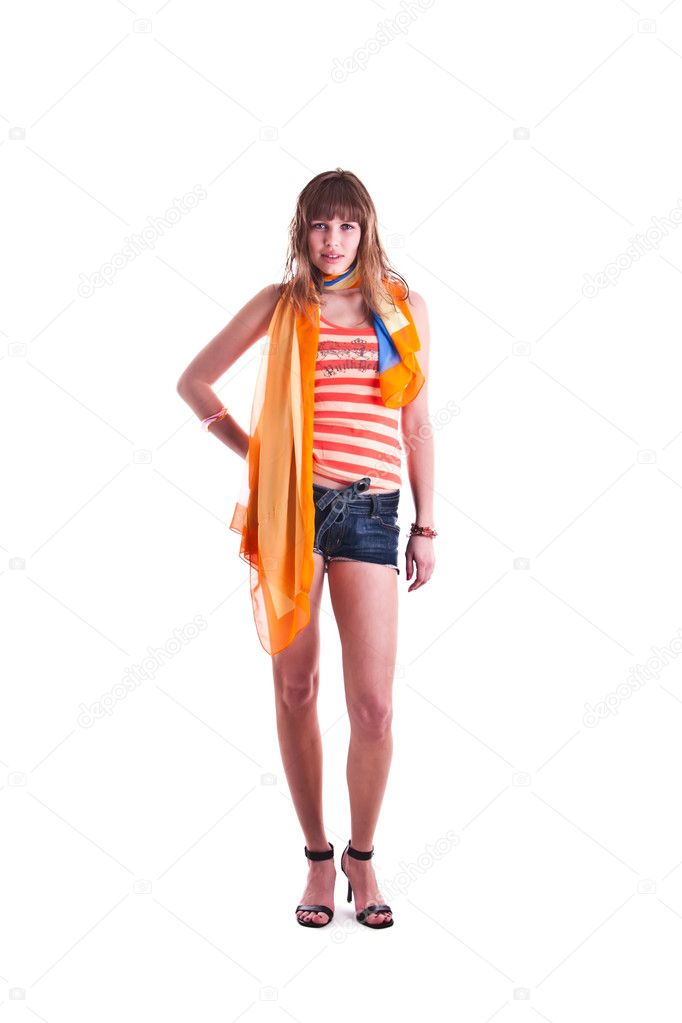 Woman with scarf  Stock Photo #3544545