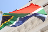 South African Flag — Stock Photo