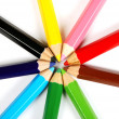 Coloured Pencils in a Circle — Stock Photo