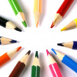 Coloured Pencils on a White Background — Stock Photo