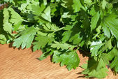 Parsley on cutting board — Stock Photo