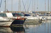 Yachts at harbor — Stock Photo
