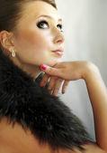 Meisje, zittend, portret — Stockfoto
