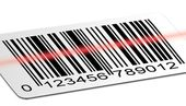 Barcode scanned — Stockfoto
