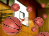 Basketballs shootout — Stockfoto