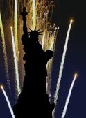 Liberty fireworks — Stockfoto