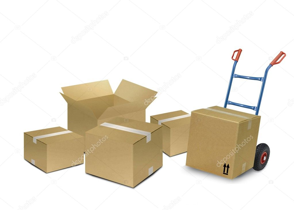 Delivery Boxes Stock Photo Razihusin 3703424