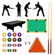 Stock Vector: Billiard collection - vector