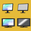 Monitor and TV - vector — Stock Vector