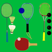 Sport rackets - vector — Stock Vector