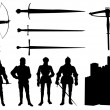 Collection of knight - vector - Stock Vector